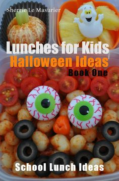 This collection of spooky school lunch ideas is brought to you through the generous contributions of some of my favorite bloggers who share with you a variety of quick and easy, as well as creatively creepy Halloween ideas they've come up with for their own kids.