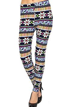 Women's Snowflakes Ethnic Tribal Fashion Leggings