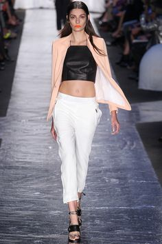 NYFW SS14 Lesson 2: Rag & Bone is reviving the cropped halter top and encouraging you to take the 90s trend and make it modern with leather.