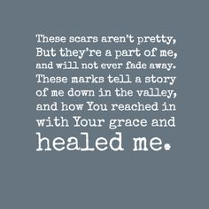 """""""What Scars Are For"""" ~Mandisa"""