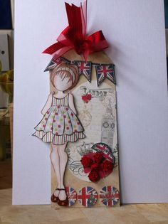 Just love this 'Prima paper doll' stamp !