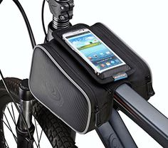 Bike Handlebar Bags - ArcEnCiel Bicycle Tube Frame Cycling Pannier Water Resistant Bike Bag  55 inch Mobile Phone Screen Touch Holder ** Find out more about the great product at the image link.
