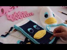 Ördekli takım 1 - YouTube Paper Animal Crafts, Paper Animals, Crochet Hats, Scarf Crochet, Beanies, Manualidades, Amigurumi, Knitting Hats