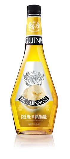 With it's candied banana aroma and sweet banana flavor, the McGuinness Crème de Banane is a'peel'ing to all crowds! Liqueur, Cocktail Recipes, Whiskey Bottle, Creme, Banana, Make It Yourself, Drinks, Sweet, Food