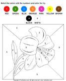 math Worksheets - preschool Worksheets - Color by Number Counting Worksheets For Kindergarten, Printable Preschool Worksheets, Math Worksheets, Numbers Preschool, Preschool Math, Color By Number Printable, Fall Coloring Pages, Coloring Sheets, Color By Numbers