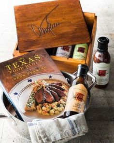 Chef Dean Fearing Grilling Gift Set - features a signed copy of The Texas Food Bible and 4 sauces in an engraved birch box. Bbq Gifts, Grilling Gifts, Father Birthday Gifts, Gifts For Father, Mop Sauce, Diy Gifts For Men, Gifts For Cooks, Gourmet Recipes, Friends