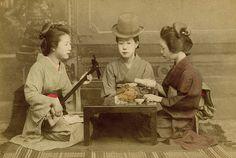 A Geisha wearing a Homburg Hat 1890s