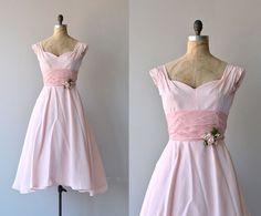 A Fond Farewell dress  vintage 1950s dress  pink by DearGolden