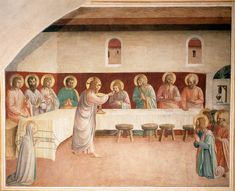 Institution of the Eucharist, 1441-1442- Fra Angelico