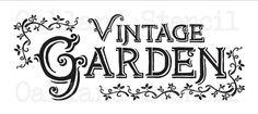 PLANTILLA de jardín al aire libre  Vintage por OaklandStencil