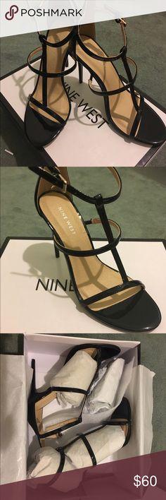Nine West Black Sexy Heels Brand new in box, never worn, black patent leather straps heels. Nine West Shoes Heels