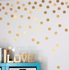 Simple Removable Polka Dots Round Circle Art Mural DIY Wall Stickers Home Decor Polka Dot Walls, Polka Dot Wall Decals, Gold Polka Dots, Wall Stickers, Nursery Stickers, Floor Stickers, Window Stickers, Arts And Crafts Storage, Craft Storage