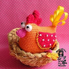 Funny crochet hen - cute decoration not only for Easter :-)