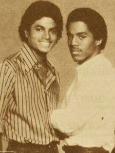Michael and Marlon Jackson