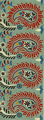Paisley (design) - a droplet-shaped vegetable motif of Persian or Indian origin.