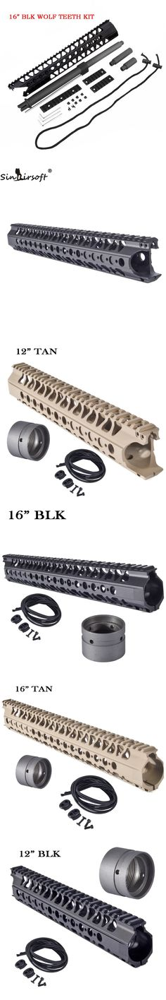 5.56 Free Float LVOA-C Rail System Aluminum One Top Picatinny Handguard with Carbon Steel Barrel Nut & Bungee M4 AEG Airsoft