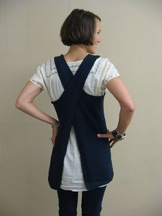 Grown up Pinafore. Maude pattern, by Cocoknits.