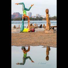 Reflection at the Remic Rapids in Ottawa.:)  by Cindy Eastwood by @dharmabumsactive  #Acroyoga #AcroyogaOttawa #Balance #Yoga #PartnerYoga #AcroRevolution #Ottawa #AcroEverywhere #OttawaYoga #Instayoga #Leggings #Meggings #DharmaBumsActive #LoveMyDharmaBums #Inversion #Trust #BalancingRocks #RemicRapids #Star #Acrobatics #Love #Fun #Smile #SmileyOm #Exercise