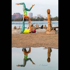 Reflection at the Remic Rapids in Ottawa.:)  by Cindy Eastwood by @dharmabumsactive  #Acroyoga #AcroyogaOttawa #Balance #Yoga #PartnerYoga #AcroRevolution #Ottawa #AcroEverywhere #OttawaYoga #Instayoga #Leggings #Meggings #DharmaBumsActive #LoveMyDharmaBums #Inversion #Trust #BalancingRocks #RemicRapids #Star #Acrobatics #Love #Fun #Smile #SmileyOm #Exercise