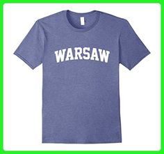 Mens WARSAW Arch T-Shirt Athletic Sports Gym Small Heather Blue - Workout shirts (*Amazon Partner-Link)