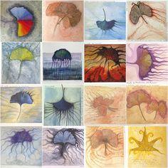 Ginko Paintings - 2008 by giagir, via Flickr Leaf Design, Leaves, Paintings, Art, Art Background, Paint, Painting Art, Kunst, Performing Arts