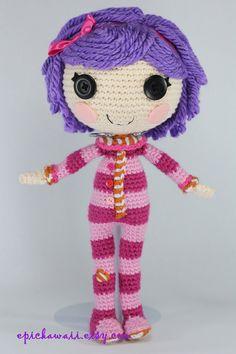 PATTERN: Pillow Crochet Amigurumi Doll by epickawaii on Etsy ☆