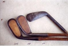 If they could talk, I wonder what wonderful stories these vintage golf clubs could share...