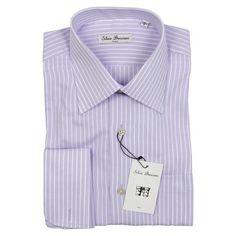 Rakuten.com - Silvio Bresciani Men's SALE Lavender French Cuff Italian 100% Cotton Dress Shirt French Cuff Shirts, Mens Sale, Dress Shirt, Cotton Dresses, Lavender, Mens Tops, Stuff To Buy, Clothes, Shopping