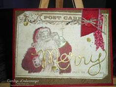 Carolyn's Card Creations: Happy Mail - I received this gorgeous vintage Christmas Card in the mail made for me by Inky Moose