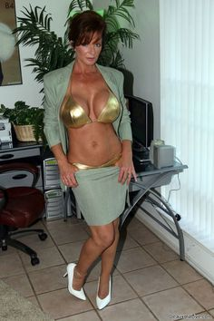 Golden bra