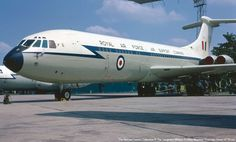 VC10 XV107 parked at RAF Abingdon in 1968