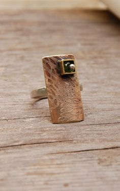 Mixed Metal Ring by landscape jewel, via Flickr