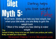 Diet myth 5    Skinsport Fitness Center  www.Skinsport.com