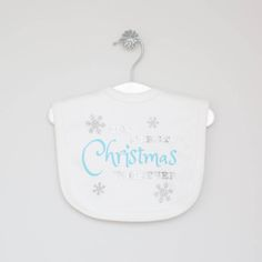 Our First Christmas Together' Bib by My Years, the perfect gift for Explore more unique gifts in our curated marketplace. Velcro Patches, First Christmas, Unique Gifts, Original Gifts