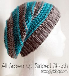 All Grown Up Striped Slouchy Hat