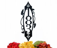 Vertical Outdoor House Number Metal Sign - 3 Digit, Black, 6x16 by Refined Inspirations