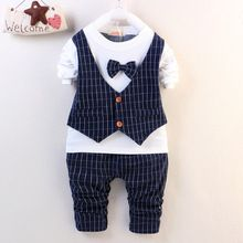 2016 new spring/autumn baby Boy clothing set boy sports suit set children christmas outfits girls tracksuit clothes T shirt+pant(China (Mainland))