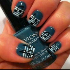 Music nails! I want this!!!! Just a different color background.