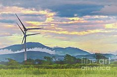 Wind Power, Cumbria, Impressionist, Beverly Hills, Wind Turbine, Countryside, Instagram Images, Scene, Sky