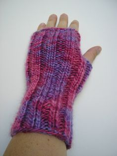 Wool blend   Fingerless Gloves Knitted Mittens by JoFiberscreation, $22.00