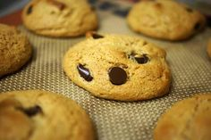 Peanut Butter Chocolate Chip Cookies (Flourless) « Detoxinista1 cup creamy peanut butter, unsalted (preferably organic) 1/3 cup honey (*see note below to reduce sugar content) 1 whole egg, or a flax egg 1/2 teaspoon baking soda 1/2 teaspoon sea salt 1/2 cup chocolate chips