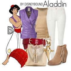 Aladdin by leslieakay on Polyvore featuring Rick Owens, River Island, Vince Camuto, Tory Burch, Disney, Hobbs, disney, disneybound and disneycharacter