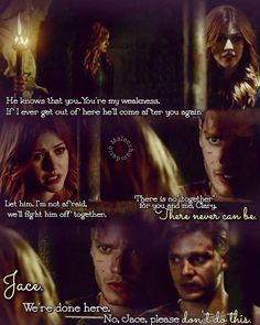"""There's no """"together """" for you and me,Clary. - Oh #Clace"""