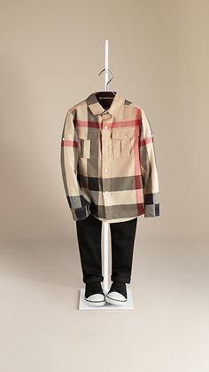 Burberry Check Cotton Shirt.. Lil dapper