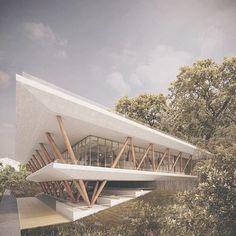 Gefällt Mal, 29 Kommentare - Concepts of Architecture ( - Architektur Architecture Design, Architecture Concept Drawings, Pavilion Architecture, Facade Design, Futuristic Architecture, School Architecture, Amazing Architecture, Contemporary Architecture, Exterior Design