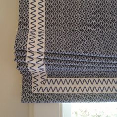 roman shade detail.  via Caroline Shook Interiors Blog