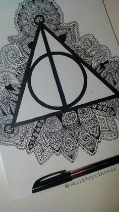 #Die Heiligtümer des Todes #Harry Potter #Doodle #Mandala #Zeichnung