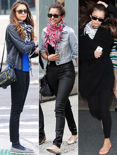 Great casual look. Love a big scarf