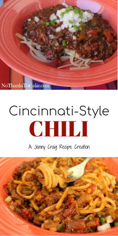 Jenny Craig Recipe Creation: Cincinnati-Style Chili
