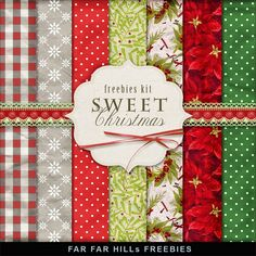 FREE Freebies Kit of Backgrounds - Sweet Christmas By Far Far Hill